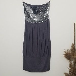 2/10$🎆 Rue21|Strapless Sequined Tube Dress Small